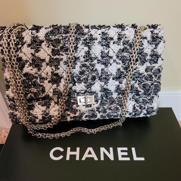 CHANEL Handbags - Chanel Reissue Double Flap Classic Tweed Bag